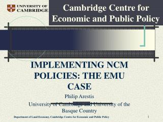 Cambridge Centre for Economic and Public Policy