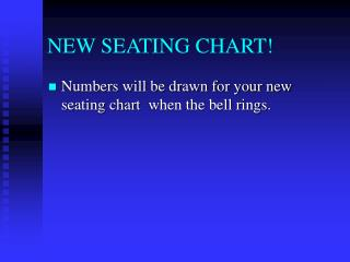NEW SEATING CHART!