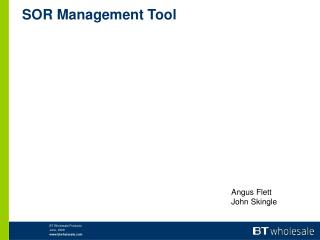 SOR Management Tool