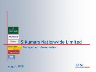 S.Kumars Nationwide Limited