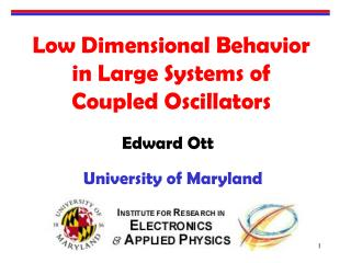 Low Dimensional Behavior in Large Systems of Coupled Oscillators