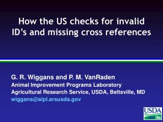 How the US checks for invalid ID's and missing cross references