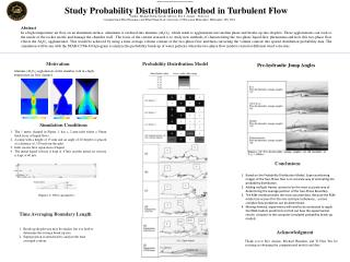 Study Probability Distribution Method in Turbulent Flow