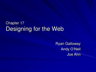 Chapter 17 Designing for the Web