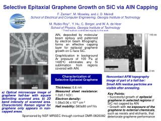 Selective Epitaxial Graphene Growth on SiC via AlN Capping