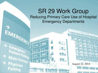 SR 29 Work Group Reducing Primary Care Use of Hospital Emergency Departments