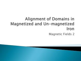 Alignment of Domains in Magnetized and Un-magnetized Iron