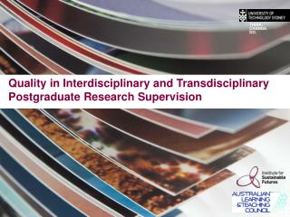 Quality in Interdisciplinary and Transdisciplinary Postgraduate Research Supervision