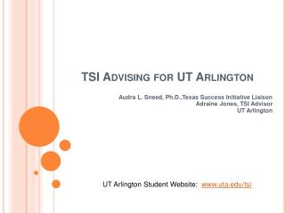 TSI Advising for UT Arlington