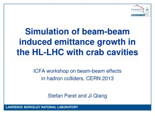 Simulation of beam-beam induced emittance growth in the HL-LHC with crab cavities