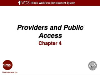 Providers and Public Access