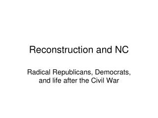 Reconstruction and NC