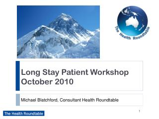 Michael Blatchford, Consultant Health Roundtable