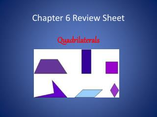 Chapter  6  Review Sheet