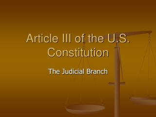 Article III of the U.S. Constitution