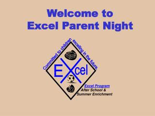 Welcome to  Excel Parent Night