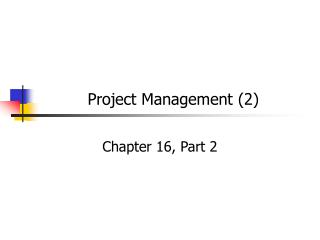 Project Management (2)