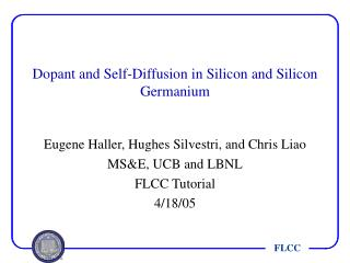 Dopant and Self-Diffusion in Silicon and Silicon Germanium