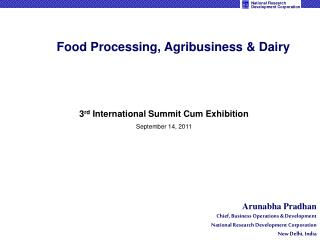 Food Processing, Agribusiness  Dairy