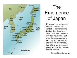 The Emergence of Japan