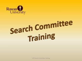 Search Committee Training