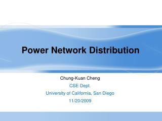 Power Network Distribution