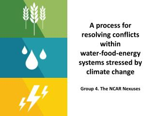 A  process  for resolving  conflicts within water-food-energy systems stressed by climate change