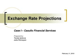 Exchange Rate Projections