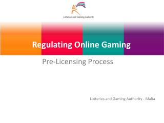 Regulating Online Gaming