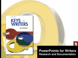 PowerPoints for Writers Research and Documentation