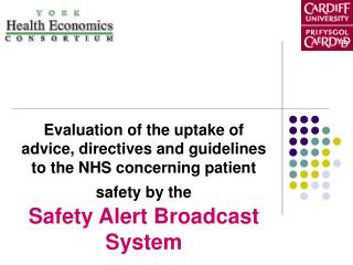 Evaluation of the uptake of advice, directives and guidelines to the NHS concerning patient safety by the Safety Alert B
