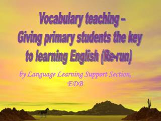 by Language Learning Support Section, EDB