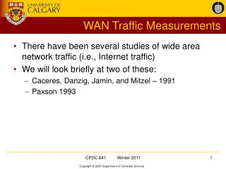 WAN Traffic Measurements