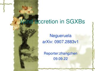 Wind accretion in SGXBs