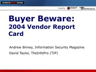 Buyer Beware:  2004 Vendor Report Card