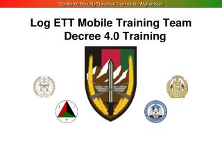 Log ETT Mobile Training Team  Decree 4.0 Training