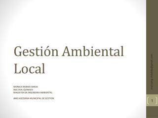 Gestión Ambiental Local