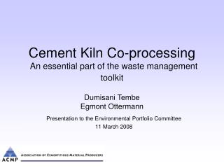 Cement Kiln Co-processing An essential part of the waste management toolkit