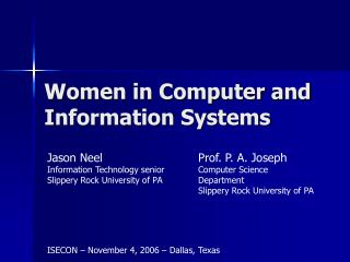 Women in Computer and Information Systems