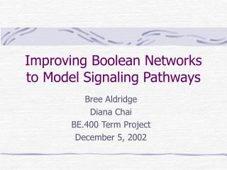 Improving Boolean Networks to Model Signaling Pathways