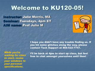 Welcome to KU120-05!