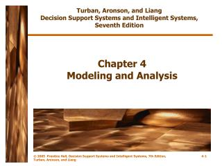 Chapter 4 Modeling and Analysis