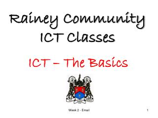Rainey Community ICT Classes
