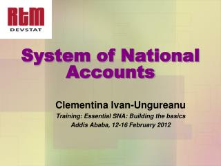 System of National Accounts