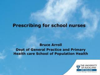 Prescribing for school nurses