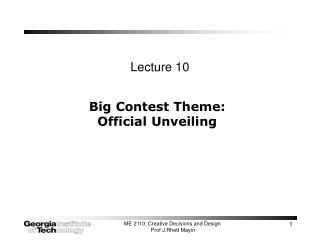 Big Contest Theme: Official Unveiling