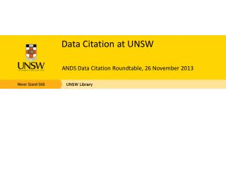 Data Citation at UNSW