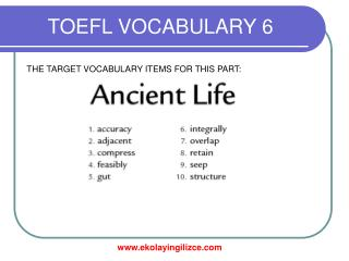 TOEFL VOCABULARY 6