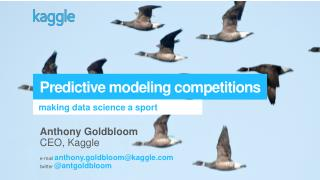 Predictive modeling competitions