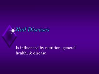 Nail Diseases And Disorders Chart Presentation Slideshows